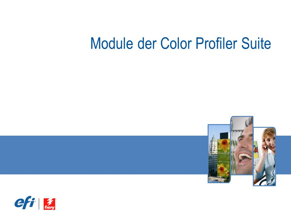 Module der Color Profiler Suite