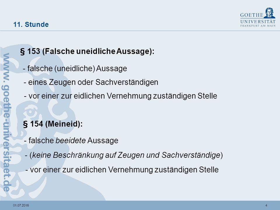 """501.07.2015 11.Stunde Zur """"Falschheit der Aussage: """"objektive vs."""