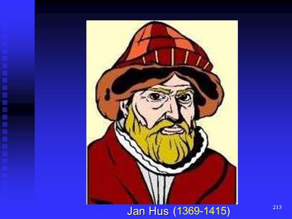 212 die Grundlagen die Grundlagen der tschechische Orthographie der tschechische Orthographie dem Reformator Jan Hus dem Reformator Jan Hus im 14. Jh.