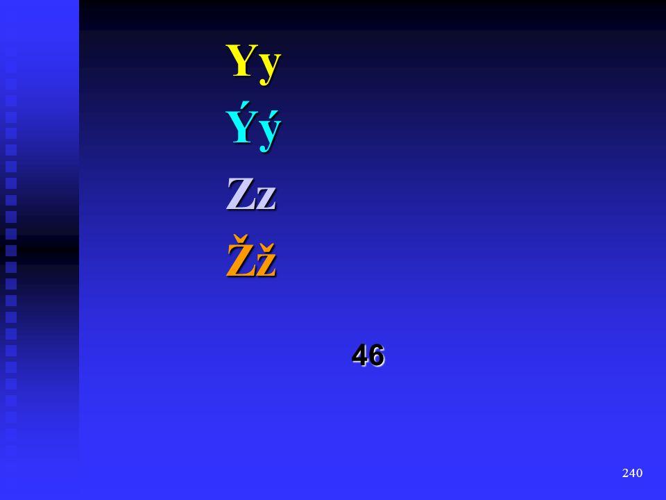 239 ŤťUuÚúVvWwXx