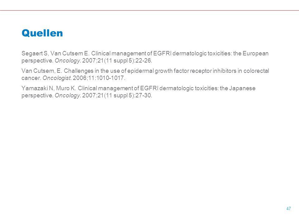 47 Quellen Segaert S, Van Cutsem E.