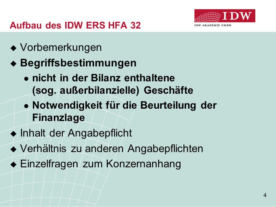15 Inhalt der Angabepflicht (5) Beispiel 2  Y-GmbH (Gewinn pro Jahr 1.000 TEUR, Bilanz- summe 6.000 TEUR) hat Leasingverträge für Anlagen mit einer Belastung von 500 TEUR p.a.