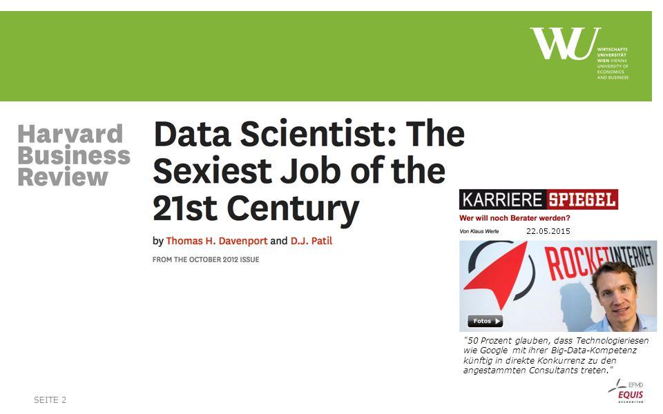 Fragen an unser Podium:  1) Was ist Data Science für Sie und was ist daran neu.