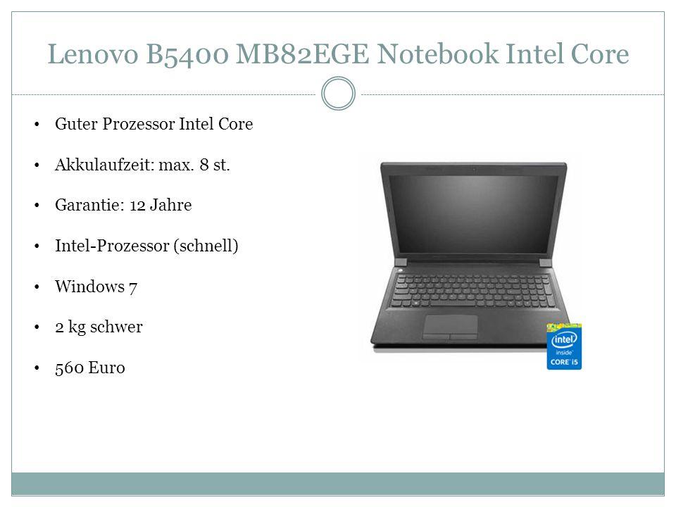 Lenovo B5400 MB82EGE Notebook Intel Core Guter Prozessor Intel Core Akkulaufzeit: max.