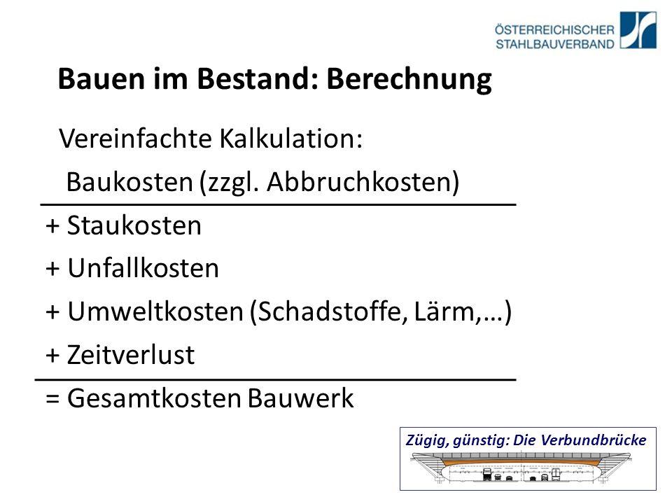 Bauen im Bestand: Berechnung Vereinfachte Kalkulation: Baukosten (zzgl.
