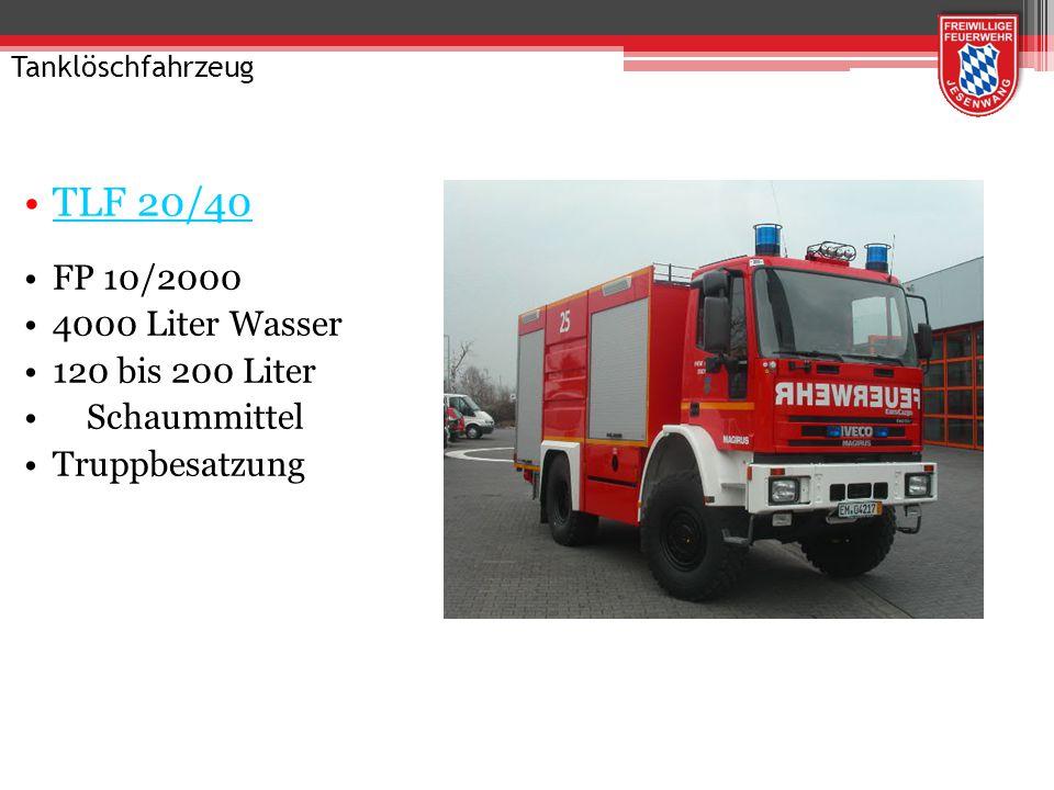 Tanklöschfahrzeug TLF 16/20 Tr FP 10/2000 2000 Liter Tank Truppbesatzung Allrad 4-tlg. Steckleiter