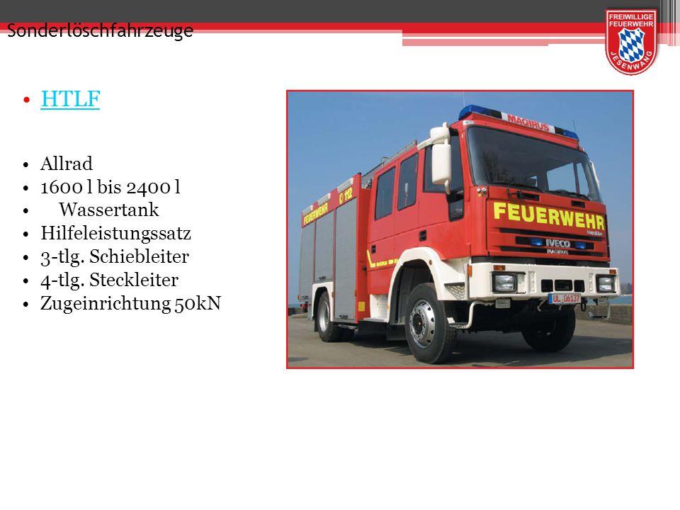Tragkraftspritzenfahrzeuge KLF TS 8/8 400 l Wassertank Staffelbesatzung 4-tlg. Steckleiter