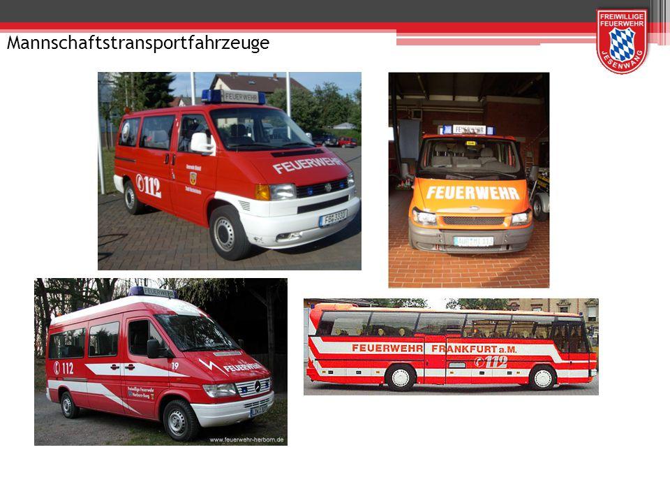 Krankenfahrzeuge der Feuerwehren