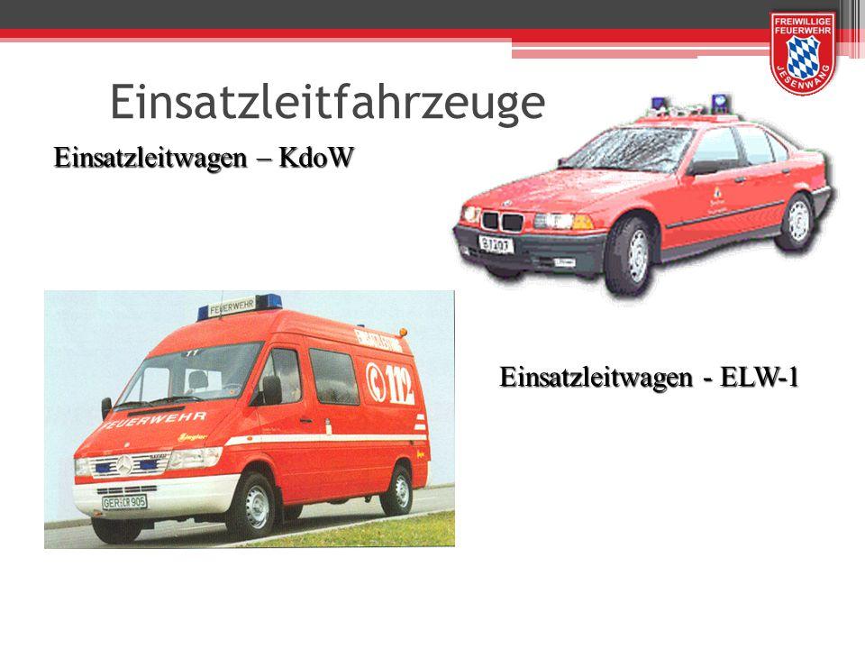 Einsatzleitwagen – KdoW Einsatzleitwagen - ELW-1 Einsatzleitfahrzeuge