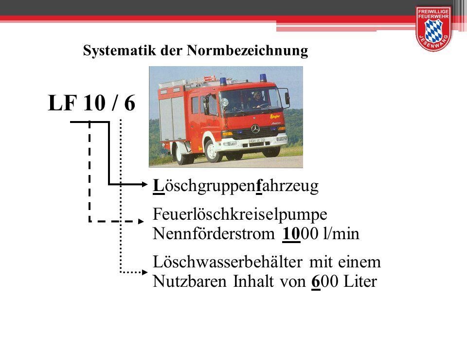 LF 8 Löschgruppenfahrzeug mit Feuerlöschkreiselpumpe welche bei 8bar Nenndruck eine Wasserfördermenge von 800 Liter pro Minute hat