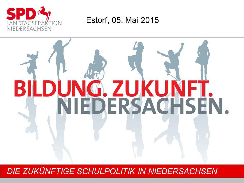 DIE ZUKÜNFTIGE SCHULPOLITIK IN NIEDERSACHSEN Estorf, 05. Mai 2015