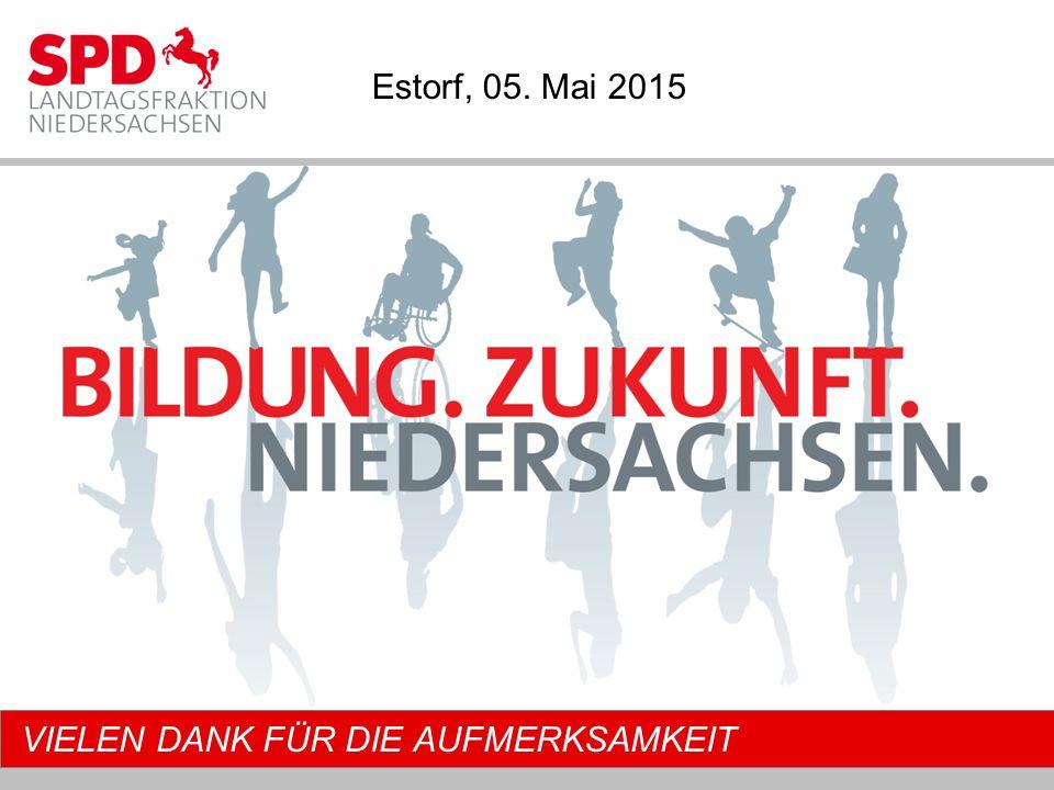 VIELEN DANK FÜR DIE AUFMERKSAMKEIT Estorf, 05. Mai 2015