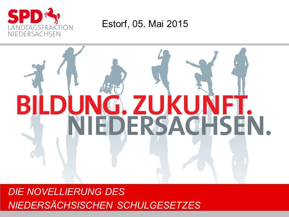 DIE NOVELLIERUNG DES NIEDERSÄCHSISCHEN SCHULGESETZES Estorf, 05. Mai 2015