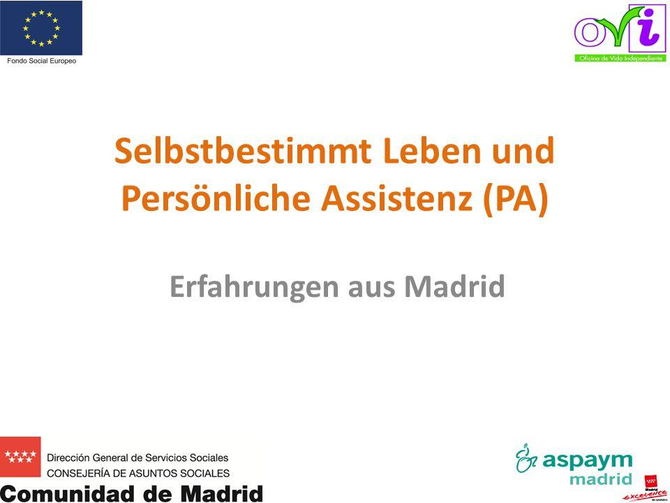 Ich stelle mich vor Javier Arroyo Méndez Diskriminierung auf Grund funktioneller Beeinträchtigung Mitglied des Independent Living and 'Divertad' Forum (FVID) = Forum für selbstbestimmtes Leben, Freiheit, Würde und Vielfalt Ehemaliges Vorstandsmitglied beim Europäischen Netzwerk für selbstbestimmtes Leben (ENIL) Seit 2006 habe ich Persönliche Assistenz seit 2012 Koordinator des OVI Madrid email: coordinacion.ovi@aspaymmadrid.org