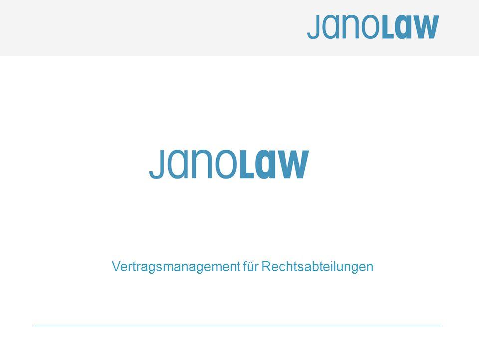2 Agenda (1) janolaw: Das Unternehmen 1.1 Historie 1.2 Struktur 1.3 Der Markt (2) janolaw Produkte und Leistungen 2.1 janoConsult 2.2 janoContract (3) Vertragsmanagement für Rechtsabteilungen 3.1 Problemlage 3.2 Lösungen