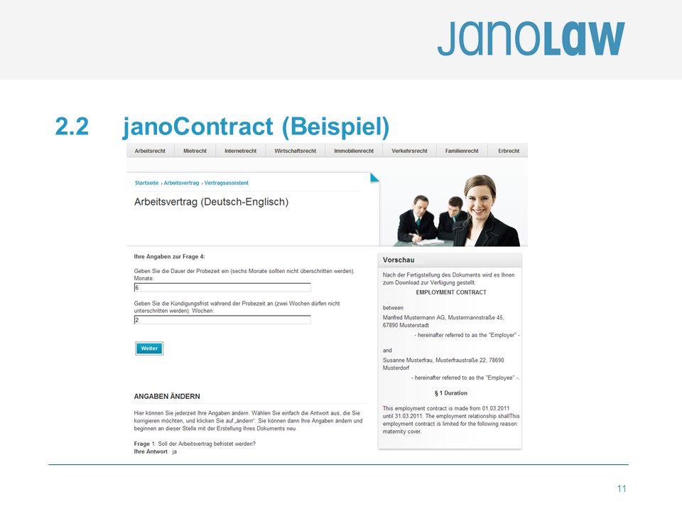 11 2.2 janoContract (Beispiel)