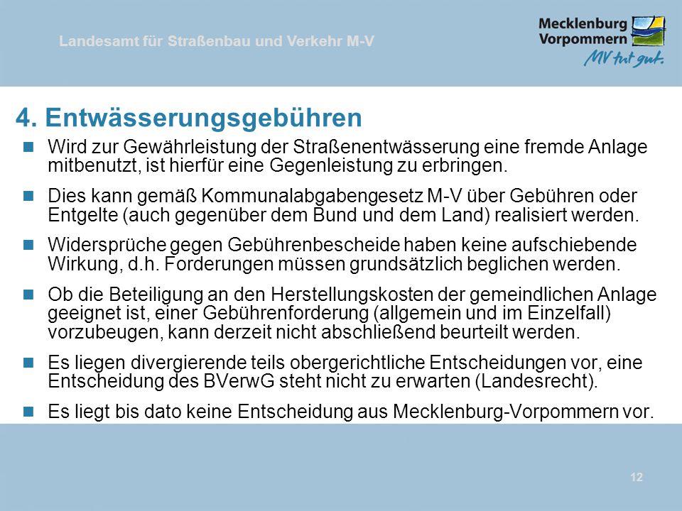 Landesamt für Straßenbau und Verkehr M-V 12 4.