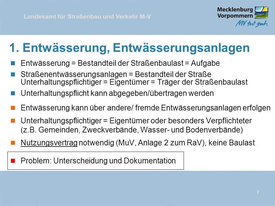 Landesamt für Straßenbau und Verkehr M-V 7 1.