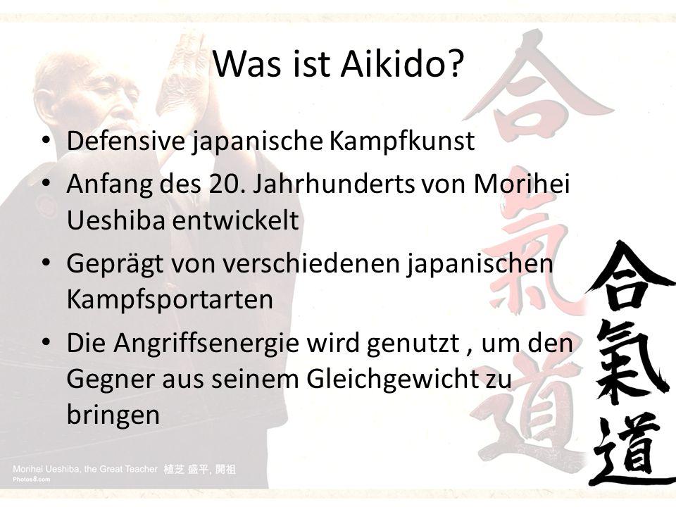 Was ist Aikido. Defensive japanische Kampfkunst Anfang des 20.
