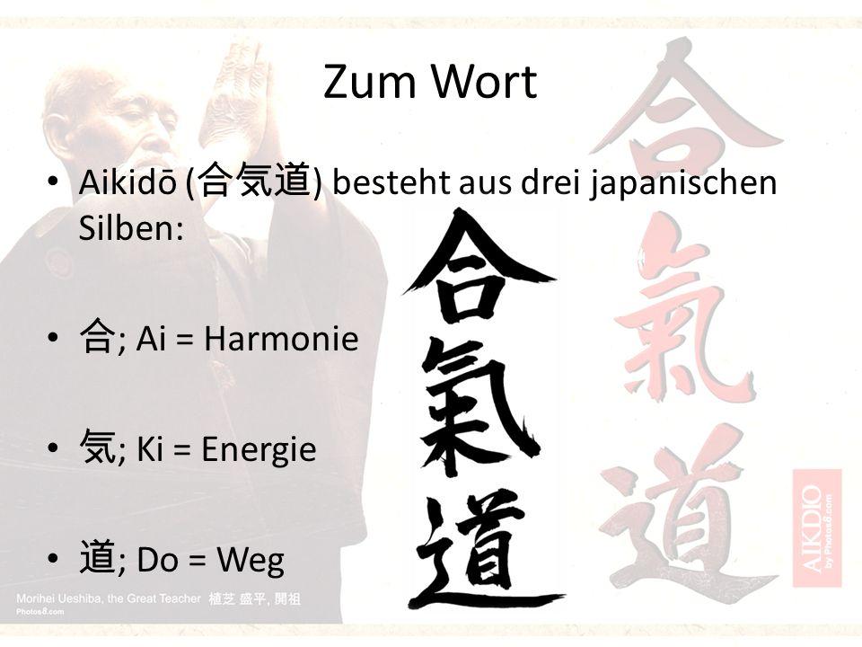 Herkunft und Entstehung Anfang der modernen Shogunatszeit entstanden Von Morihei Ueshiba entwickelt Er fasste verschiedene Abwehrtechniken unter dem Namen Aikido zusammen André Nocquet brachte Aikido nach Deutschland