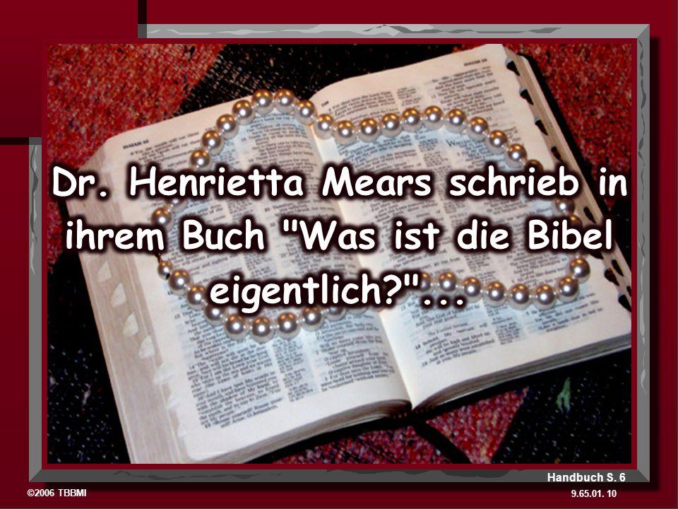 ©2006 TBBMI 9.65.01. 10 Handbuch S. 6