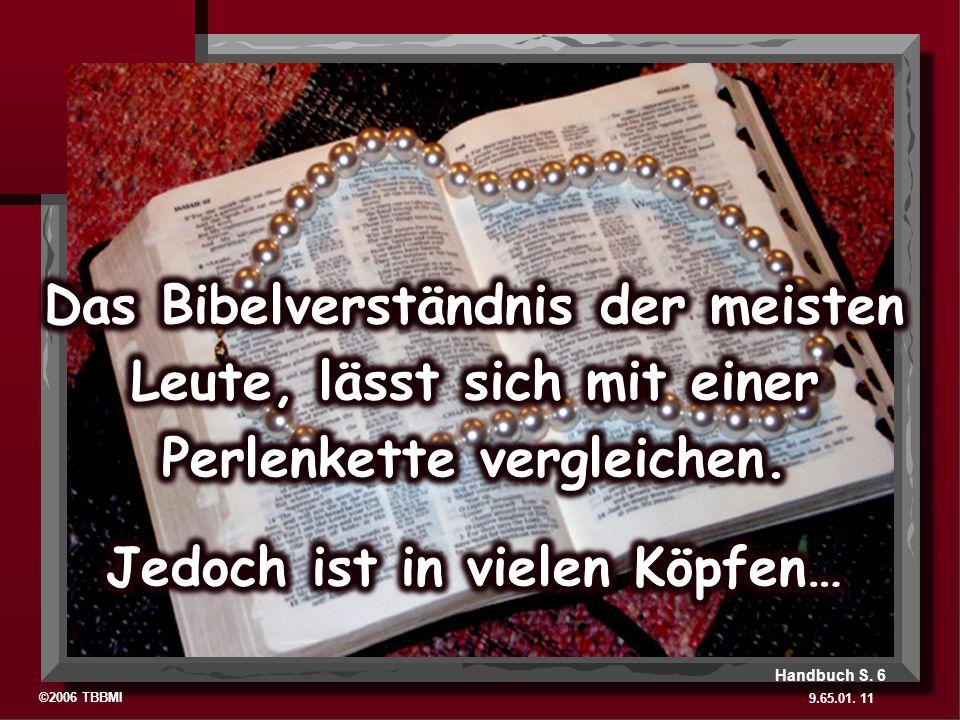 ©2006 TBBMI 9.65.01. 11 Handbuch S. 6