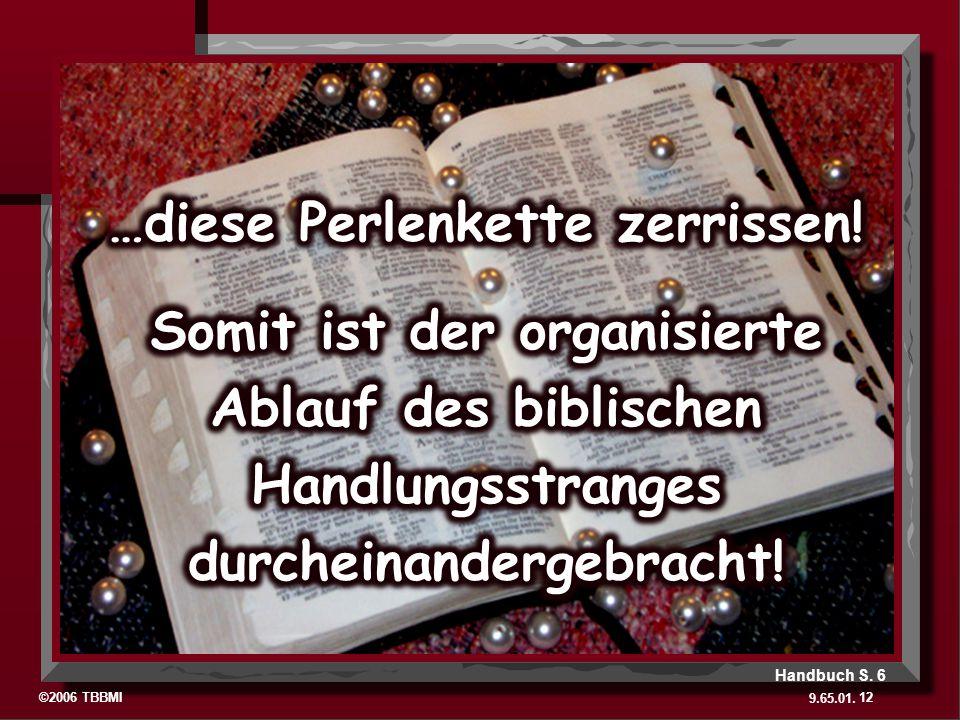 ©2006 TBBMI 9.65.01. 12 Handbuch S. 6