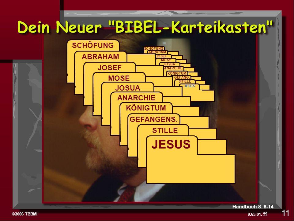 ©2006 TBBMI 9.65.01. ABRAHAM SCHÖFUNG ABRAHAM JOSEF MOSE JOSUA ANARCHIE KÖNIGTUM GEFANG: SITILLE JESUS SCHÖFUNG ABRAHAM JOSEF MOSE JOSUA ANARCHIE KÖNI