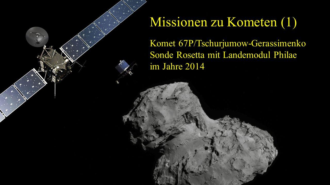 Missionen zu Kometen (1) Komet 67P/Tschurjumow-Gerassimenko Sonde Rosetta mit Landemodul Philae im Jahre 2014