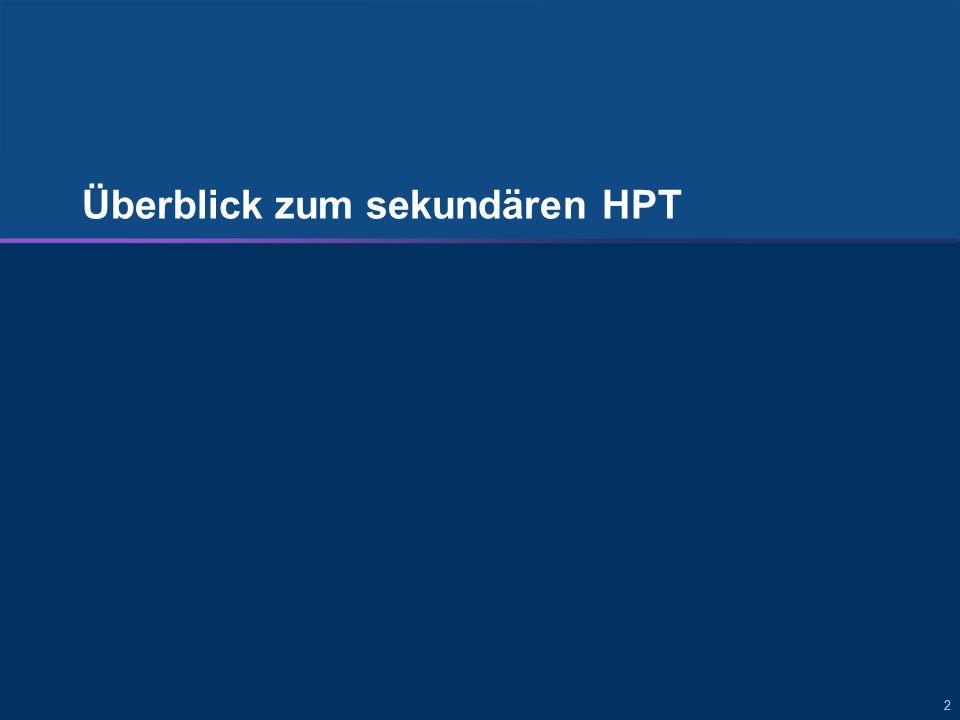 222 Überblick zum sekundären HPT