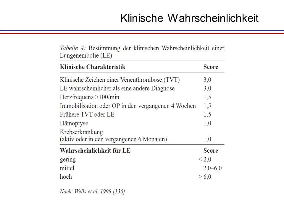 Schock/ Hypotension Notfall-CT bedside UKG KW hoch TVT LAE + CT-Angiographie Ausschluß od.