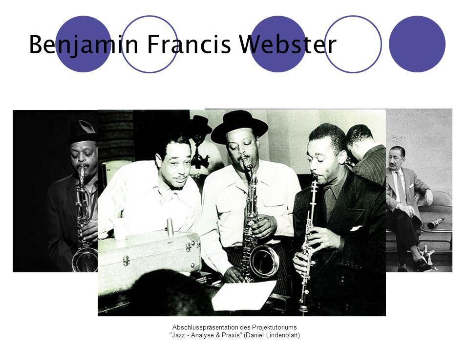 Abschlusspräsentation des Projektutoriums Jazz - Analyse & Praxis (Daniel Lindenblatt) Arthur Tatum, Jr.