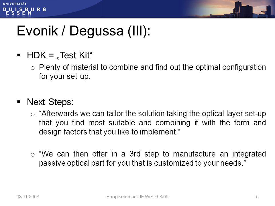 """Evonik / Degussa (IV) """"Wenn Sie festgelegt haben a."""