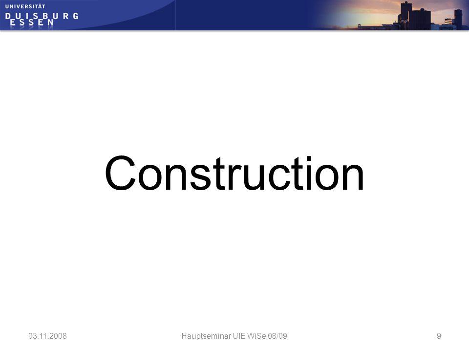 Construction: Bosch Rexroth MDF (medium density fiberboard) 03.11.2008Hauptseminar UIE WiSe 08/0910