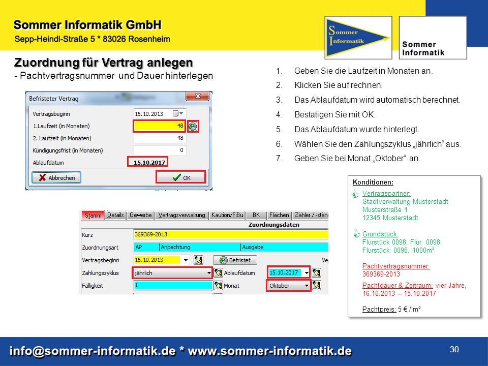 Konditionen: Vertragspartner: Stadtverwaltung Musterstadt Musterstraße 1 12345 Musterstadt Grundstück: Flurstück 0098, Flur: 0098, Flurstück: 0098, 10