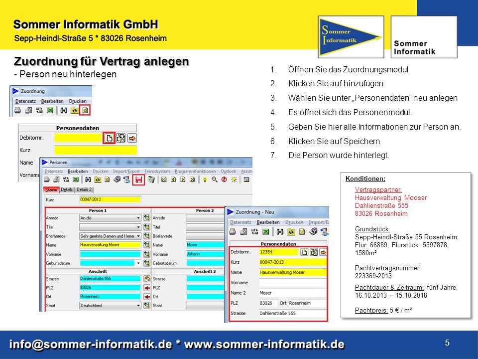 16 Mustervertrag als Dokumentenvorlage anlegen - Textersetzungsoptionen Personenmodul 1.Wählen Sie Person aus.