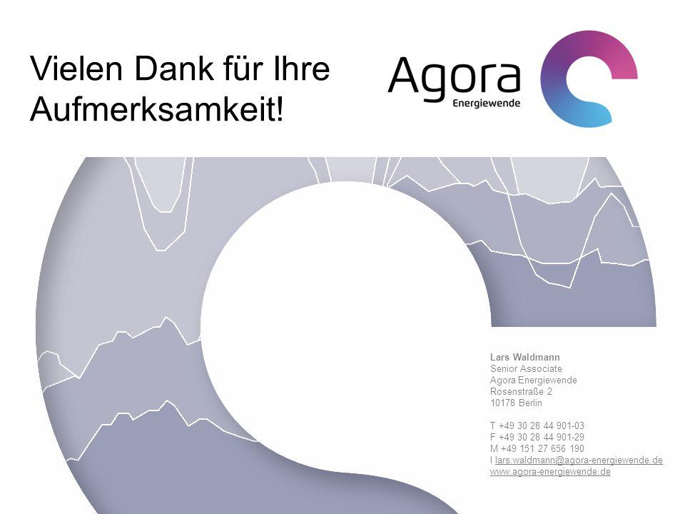 Lars Waldmann Senior Associate Agora Energiewende Rosenstraße 2 10178 Berlin T +49 30 28 44 901-03 F +49 30 28 44 901-29 M +49 151 27 656 190 I lars.w