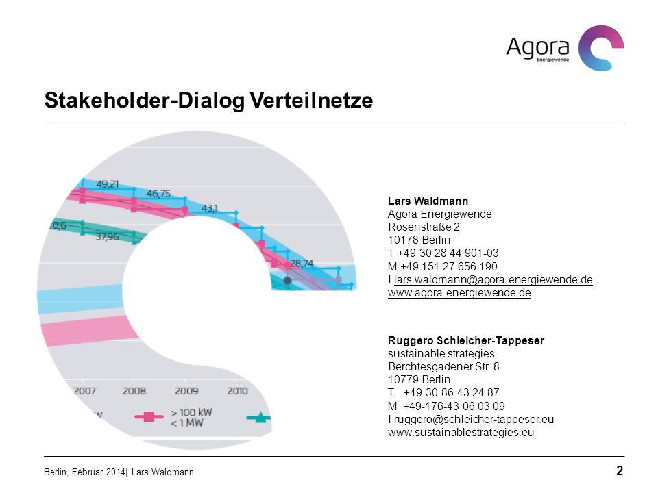 Vermeidung von Einspeisespitzen Berlin, Februar 2014| Lars Waldmann 13  Abregelung von Erzeugungsanlagen bei Einspeisespitzen  Abgeregelte Energiemenge maximal 5%  Verdoppelung der Netzanschlusskapazität