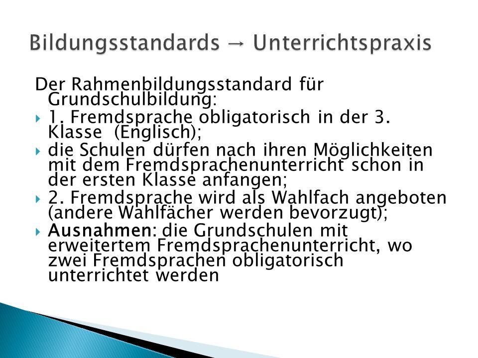Der Rahmenbildungsstandard für Grundschulbildung:  1.