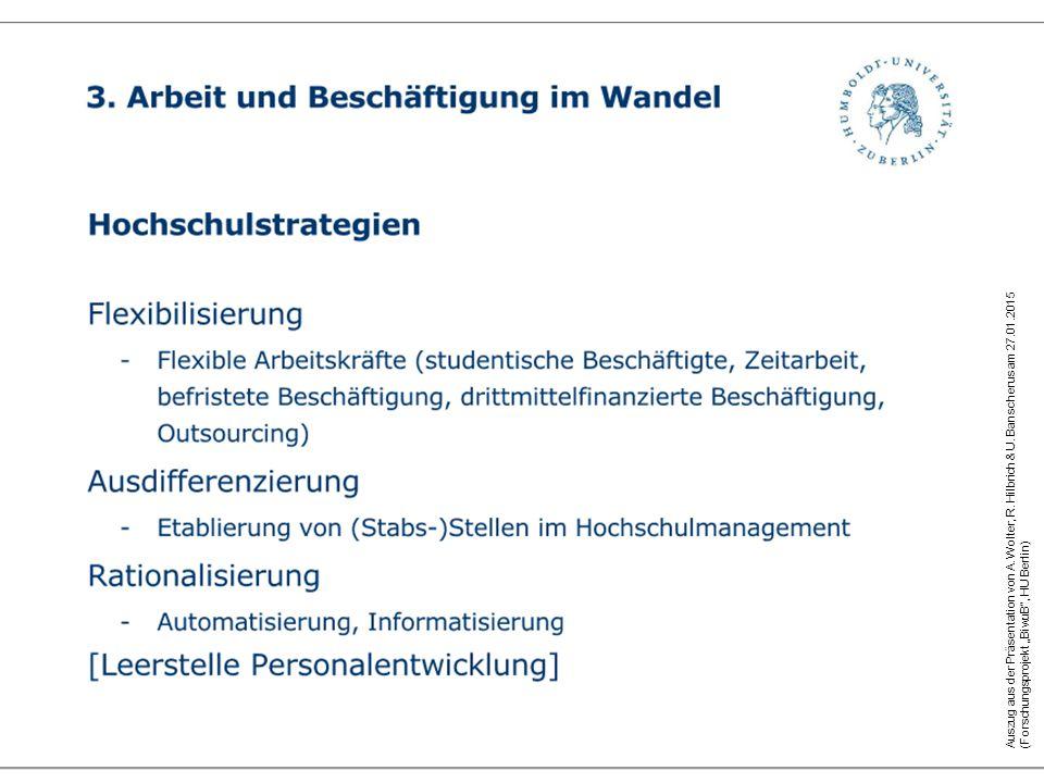 Auszug aus der Präsentation von A.Wolter, R. Hilbrich & U.