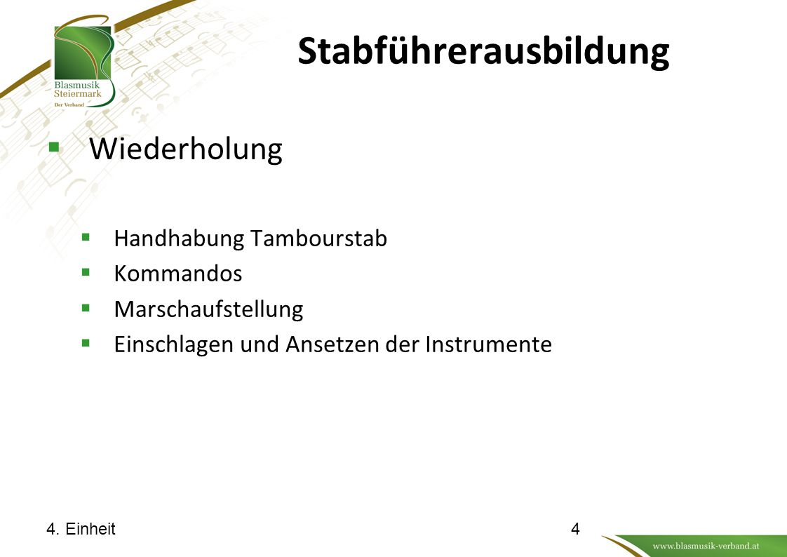 Stabführerausbildung 4. Einheit5