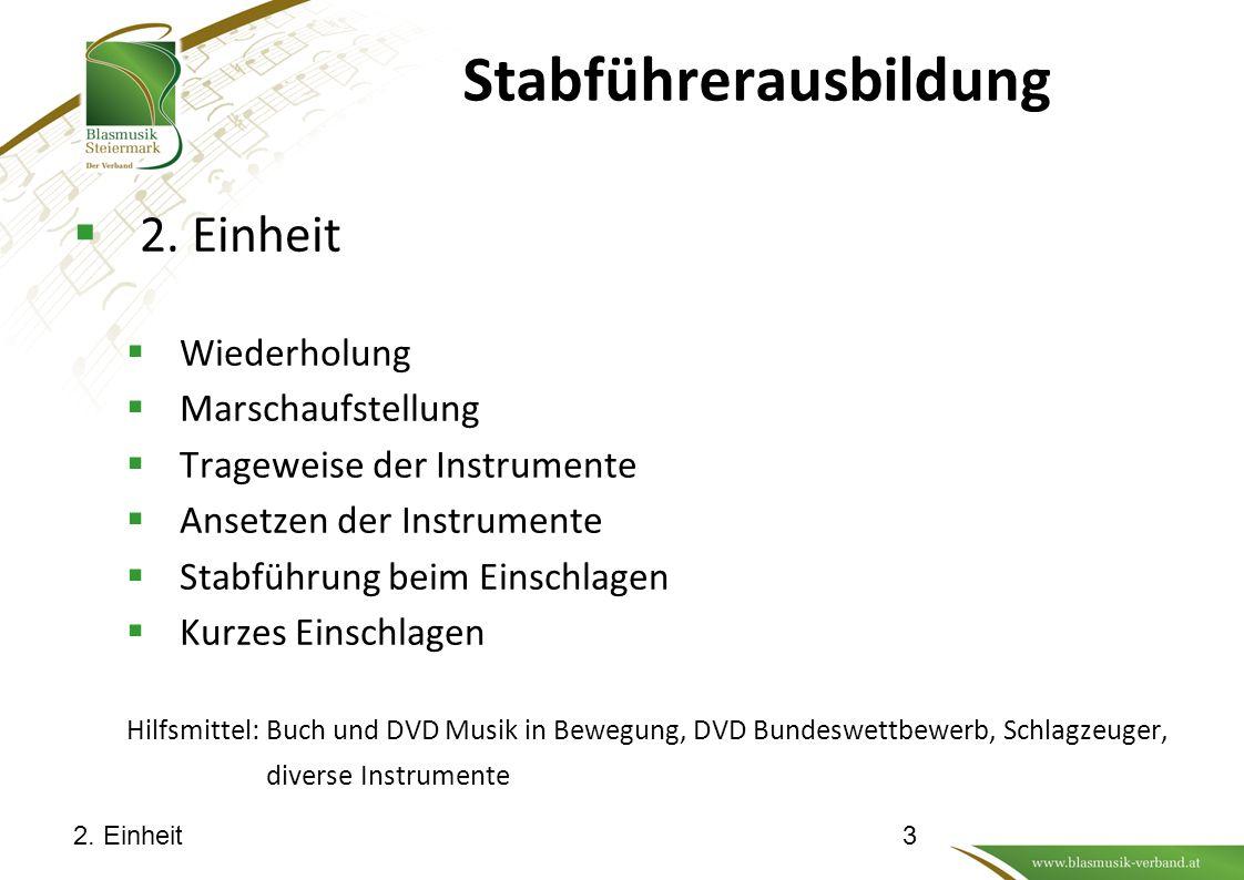 Stabführerausbildung  2.