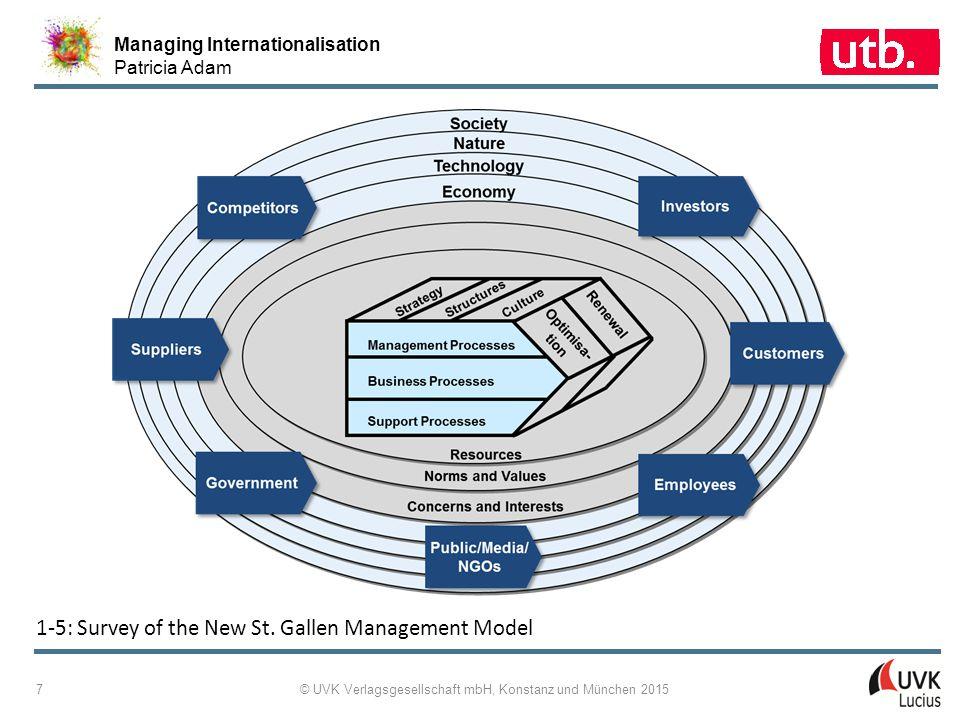 Managing Internationalisation Patricia Adam © UVK Verlagsgesellschaft mbH, Konstanz und München 2015 18 1-13: Exemplary Red Threads Through the EFQM Excellence Mode