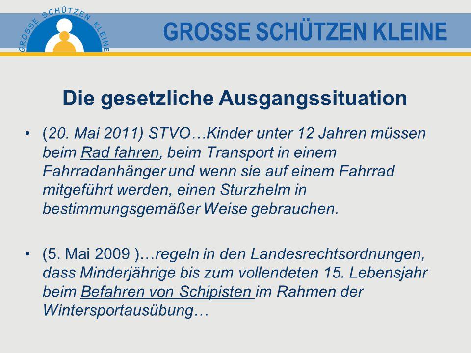GROSSE SCHÜTZEN KLEINE Die gesetzliche Ausgangssituation (20.