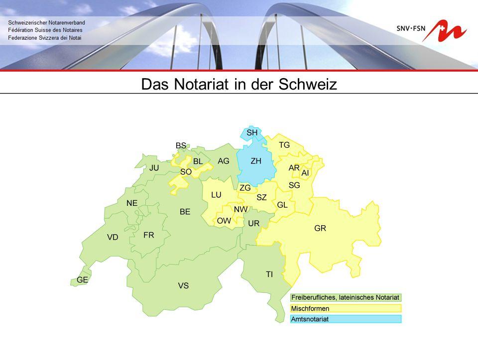 Das Notariat in der Schweiz