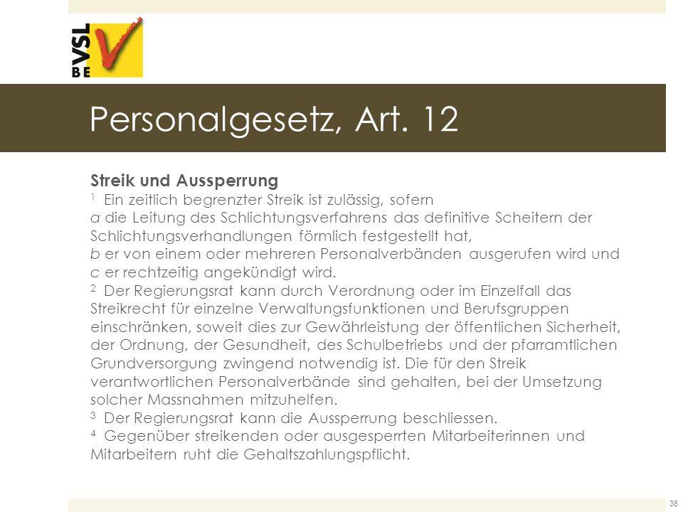 Personalgesetz, Art.