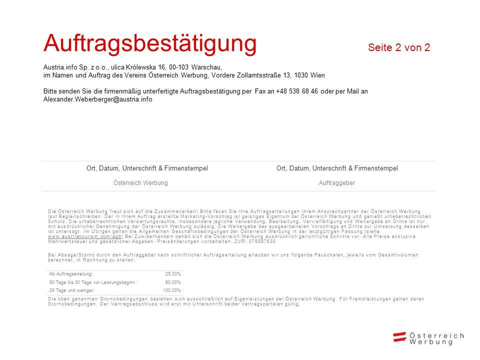 Ein Winter voller Lebensfreude Ankommen und Aufleben Winter 2014/2015 Markt XY Die Österreich Werbung freut sich auf die Zusammenarbeit.