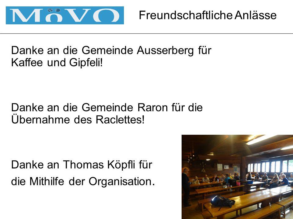 Danke an die Gemeinde Ausserberg für Kaffee und Gipfeli.