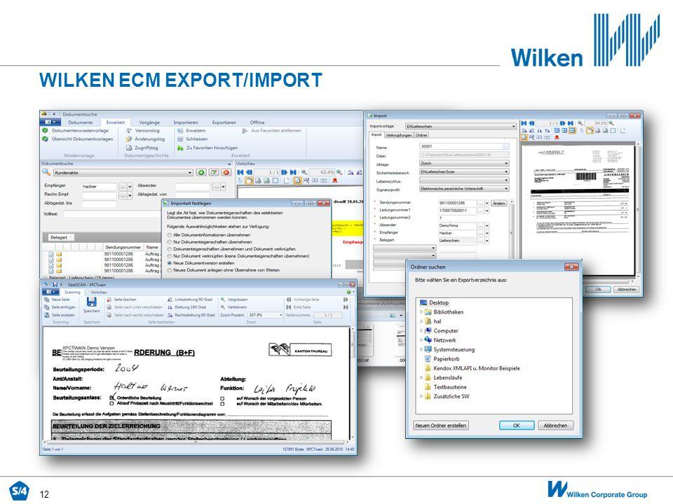 12 WILKEN ECM EXPORT/IMPORT