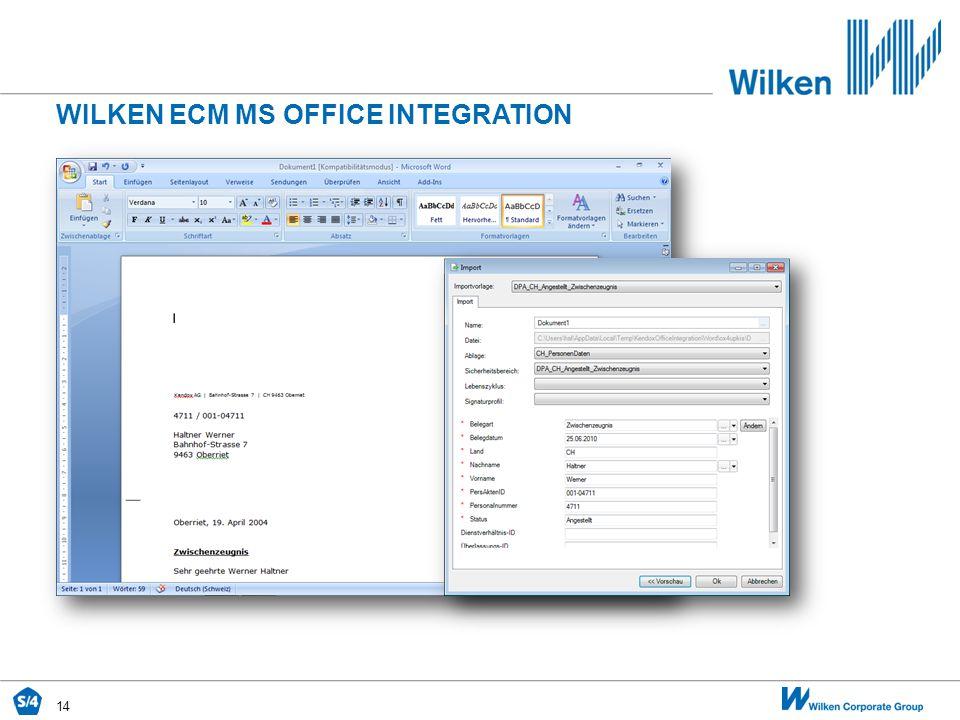 14 WILKEN ECM MS OFFICE INTEGRATION